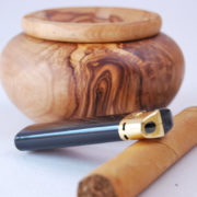 "Olive Wood carving Ashtray Bowl 100% hand made Olive wood Ashtray wide : 11 cm = 5"" Maintenance: Olive wood is a natural product that lives. By following the below instructions you will be able to enjoy for a lifetime this authentic olive wood product. - clean using a soft sponge, tepid water and soap. Dry with a kitchen cloth - from time to time after cleaning coat with salad oil to prevent the wood from getting dry - do not put this product in the dishwasher, leave it soaking in water or expose it for long to a source of heat"
